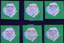 Sierra Leone - Mint Lightly Hinged - 1964 World Trade Fair New York Self Adhesive JFK Comm, Part Set - Sierra Leona (1961-...)