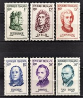 FRANCE 1956 - SERIE NEUFS** Y.T. N° 1082 A 1087 - - Nuevos