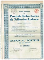 Titre Ancien - Société Anonyme Des Produits Réfractaires De Seilles-lez-Andenne - Titre De 1924 - - Industrie
