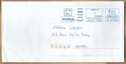 Enveloppe Entière Verdelot (77) 2scans 29-04-2020 BAL écopli 0,82 € - Marcofilia (sobres)