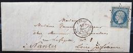 PARIS  -  Etoile Pleine + Cachet 1330 Route De Nantes 1° Départ - LAC - 1855 - Marcofilia (sobres)