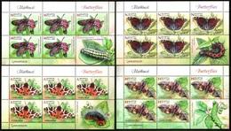 435 - Belarus - 2016 - Butterflies - 4 Small Sheets - MNH - Lemberg-Zp - Bielorrusia