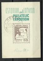 ESTONIA Estland + LETTLAND Latvia  DP Camp Lagerpost Hanau Germany 1947 Block S/S O - Letonia