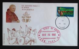 Nigeria, Uncirculated FDC, « POPE JOHN PAUL II », « Papal Visit », 1982 - Nigeria (1961-...)
