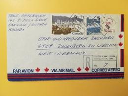 1979 BUSTA RACCOMANDATA INTESTATA AIR MAIL CANADA  BOLLO TURISMO TOURISM ANNULLO OBLITERE' MISSISSALIGA - 1952-.... Règne D'Elizabeth II