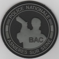 Écusson Police BAC Asnières PVC - Police & Gendarmerie