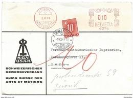 44 - 58 - Enveloppe Avec Oblit Mécanique Rouge Et Timbre Taxe 1944 - Impuesto
