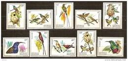 Rwanda Ruanda 1983 OCBn° 1149-58 *** MNH Cote 15,00 Euro Faune Oiseaux Vogels Birds Colibri - Colibris