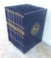 Lot De 8 Classeurs 23 X 31 Cm - 30 Pages - Fond Noir- Très Bon état. - Stockbooks
