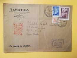 1959 BUSTA INTESTATA ARGENTINA BOLLO HORTICULTURAL INDUSTRY ANNULLO OBLITERE' ANO GEOFISICO - Argentina