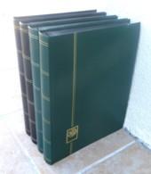 Lot De 4 Classeurs YVERT 23 X 31 Cm - 48 Pages - Fond Noir - Bon état. - Stockbooks