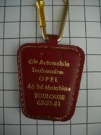1018 Porte Clefs OPEL Générale Automobile  Toulousaine 46 Bd Matabiau   31 Toulouse - Key-rings