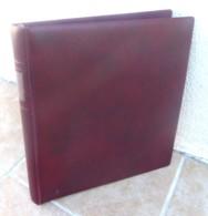 Classeur LINDNER - Reliure 18 Anneaux + 86 Pages Fond Noir - Couverture Ouatinée - Bon état. - Stockbooks