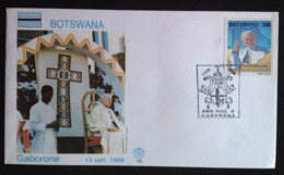 Botswana, Uncirculated FDC, « POPE JOHN PAUL II », « Papal Visit », « Gabarone », 1988 - Botswana (1966-...)