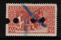 BOSNIA & HERZEGOVINA 1906 45h Red P 12.5 SG 197A U ZZ202 - Bosnia And Herzegovina