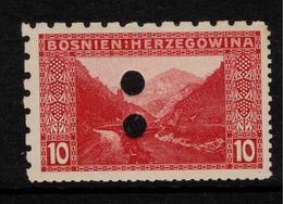 BOSNIA & HERZEGOVINA 1906 10h Carmine P 6.5 X 12.5 SG 191F HM ZZ201 - Bosnie-Herzegovine