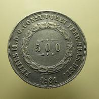 Brazil 500 Reis 1861 Silver - Brazil