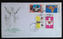 Kenya, Uncirculated FDC, « POPE JOHN PAUL II », « Papal Visit », « Nairobi », 1980 - Kenya (1963-...)
