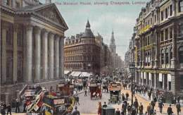 UK ENGLAND Angleterre - LONDON : The Mansion House Showing Cheapside ( Bus Autobus Pub NESTLE Milk ) CPA Colorisée - London