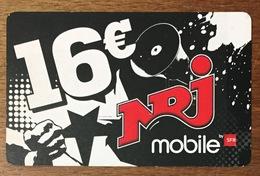 RÉUNION SFR NRJ RECHARGE GSM 16 EURO EXP 03/11 PRÉPAYÉE CARTE À CODE PHONECARD CARD PREPAID - Réunion