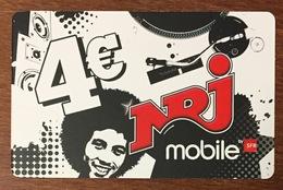 RÉUNION SFR NRJ RECHARGE GSM 4 EURO EXP 08/12 PRÉPAYÉE CARTE À CODE PHONECARD CARD PREPAID - Réunion