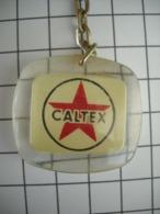 1013 Porte Clefs CALTEX   (marque Disparue) Station DUPUY Rue Du IV Septembre Tarbes 65 - Key-rings