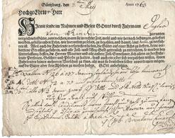 Günzburg 7.5.1763 Transportschein Johann Schneider In Lindau - Germania