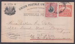 1906. PERU. UNION POSTALE UNIVERSELLE REPUBLICA PERUANA DOS 2 CENTAVOS 1897 + 2 C 190... () - JF362034 - Peru