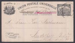 1912. PERU. UNION POSTALE UNIVERSELLE REPUBLICA PERUANA 4 CUATRO CENTAVOS 1897 To Hei... () - JF362038 - Guatemala