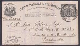 1918. PERU. UNION POSTALE UNIVERSELLE REPUBLICA PERUANA 4 CUATRO CENTAVOS 1897 To Gua... () - JF362040 - Guatemala