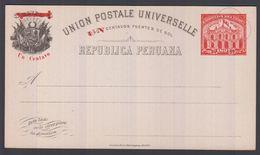 1897. PERU. UNION POSTALE UNIVERSELLE REPUBLICA PERUANA Un Centavo / 5 CINCO CENTAVOS... () - JF362047 - Peru