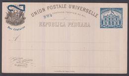 1897. PERU. UNION POSTALE UNIVERSELLE REPUBLICA PERUANA Dos Centavo / 5 CINCO CENTAVO... () - JF362049 - Peru