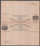 1895. PERU. UNION POSTALE UNIVERSELLE REPUBLICA PERUANA 4 CUATRO CENTAVOS CON RESPUES... () - JF362052 - Peru