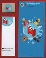 -028-  MUSEE DU JOUET COLMAR - TRIO MARQUE PAGE + AUTOCOLLANT + LIVRET - Bookmarks