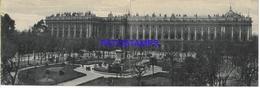 134393 SPAIN ESPAÑA PALACIO REAL VISTA GENERAL DOBLE DOUBLE POSTAL POSTCARD - España