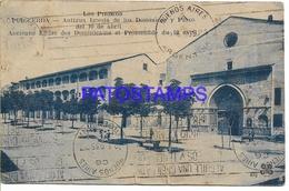 134395 SPAIN ESPAÑA PUIGCERDA ANTIGUA IGLESIA DE LOS DOMINICOS Y PASCO CIRCULATED TO ARGENTINA POSTAL POSTCARD - España