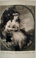 Tableau - Salon De 1909 - Odette B. De L..- Par Gabriel Guay - Jeune Fille Avec Un Chat - Peintures & Tableaux