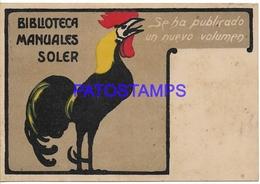 134397 SPAIN ESPAÑA PUBLICITY MANUALES SOLER BIBLIOTECA POSTAL POSTCARD - España