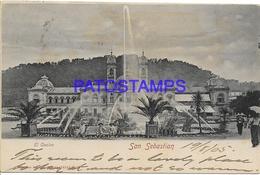 134401 SPAIN ESPAÑA SAN SEBASTIAN GUIPUZCOA PAIS VASCO EL CASINO CIRCULATED TO DENMARK POSTAL POSTCARD - España