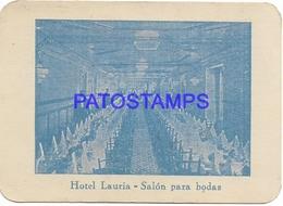 134403 SPAIN ESPAÑA VALENCIA PUBLICITY HOTEL LAURIA SALON PARA BODAS NO POSTAL POSTCARD - España