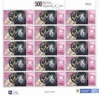COLOMBIA CO022.20.05.29 [3173:00] Leonardo Da Vinci 500 Años De Su Fallecimiento 1519-2019 - Sheet New - Colombia