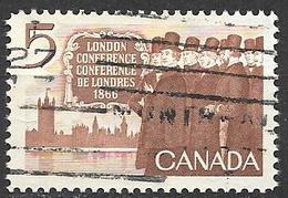 1966 5 Cents British America Act, Used - 1952-.... Règne D'Elizabeth II