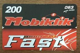 SERBIE MOBIKLIK RECHARGE GSM EXP 31/12/2005 PRÉPAYÉE PREPAID PHONECARD - Yougoslavie