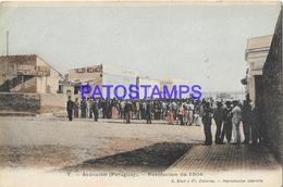 134407 PARAGUAY ASUNCION REVOLUCION DE 1904 COSTUMES SOLDIER POSTAL POSTCARD - Paraguay