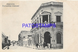 134413 PARAGUAY ASUNCION VISTA DE LA CALLE STREET & BUILDING  POSTAL POSTCARD - Paraguay