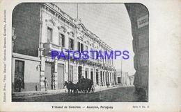 134414 PARAGUAY ASUNCION TRIBUNAL DE COMERCIO POSTAL POSTCARD - Paraguay