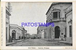 134415 PARAGUAY ASUNCION STREET CALLE PALMAS POSTAL POSTCARD - Paraguay