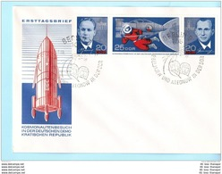 DDR GDR RDA EAST GERMANY FDC 1138-40 Zsdr. Raumfahrt Space (10269) - Lettres & Documents
