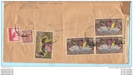 ECUADOR EQUATEUR Brief Cover Lettre Censored 392 (3er) 398 + Zuschlag 47-48 USA Flagge Adler (2 Scan)(18035) FFF - Ecuador