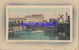 134422 PARAGUAY ASUNCION ADUANA CENTRAL VISTA DEL PUERTO PORT & SHIP POSTAL POSTCARD - Paraguay